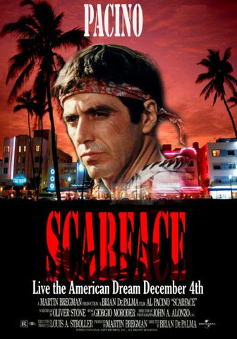 Scarface Movie poster 24inx36in Poster 24x36 - Fame Collectibles