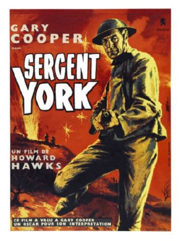 Sergeant York Movie Poster 24inx36in (61cm x 91cm) - Fame Collectibles