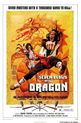 Seven Blows Of Dragon Movie Poster 24inx36in (61cm x 91cm) - Fame Collectibles