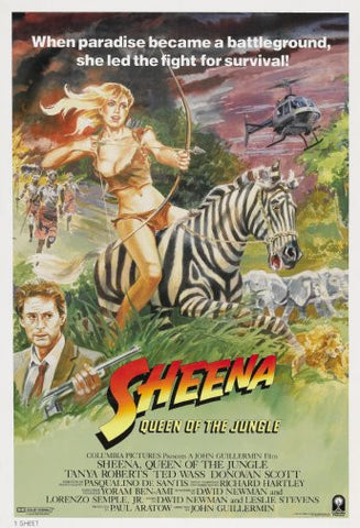 Sheena Movie Poster 24inx36in Poster 24x36 - Fame Collectibles