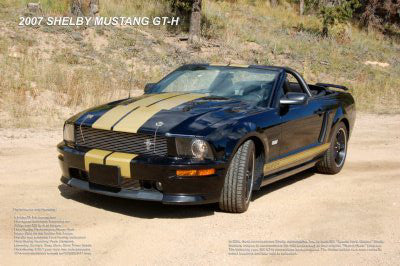 2007 Shelby Mustang Gt-H Convertible Poster Hertz Edition GT-350 24x36 - Fame Collectibles