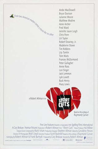 Short Cuts Movie Poster 24Inx36In Poster 24x36 - Fame Collectibles