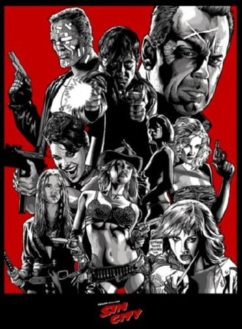 Sin City Movie Poster 24inx36in (61cm x 91cm) - Fame Collectibles