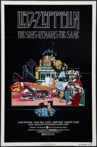 The Song Remains The Same Poster 24inx36inled zeppelin (61cm x 91cm) 24x36 - Fame Collectibles