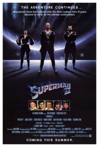Superman Ii Movie Poster 24inx36in Poster 24x36 - Fame Collectibles