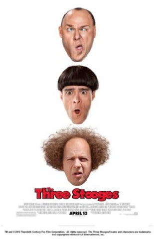 Three Stooges Movie Poster 24inx36in (61cm x 91cm) - Fame Collectibles