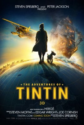Tintin Movie Poster 24inx36in (61cm x 91cm) - Fame Collectibles