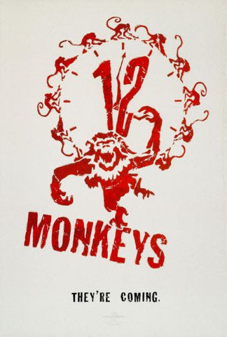12 Monkeys Movie Poster 24in x36in - Fame Collectibles