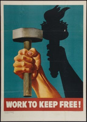 War Propaganda Effort Poster 24inx36in (61cm x 91cm) - Fame Collectibles