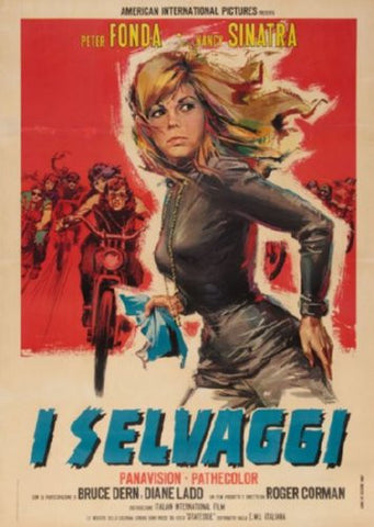 Wild Angels Italian Movie Poster 24inx36in (61cm x 91cm) - Fame Collectibles