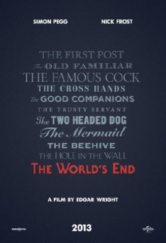 The Worlds End Movie Poster 24inx36in (61cm x 91cm) - Fame Collectibles