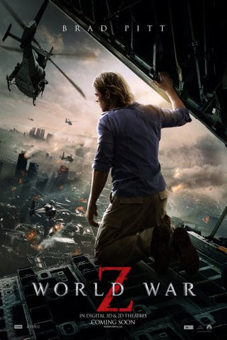 World War Z Movie Poster 24inx36in Poster 24x36 - Fame Collectibles