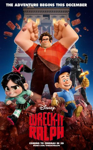 Wreck It Ralph Movie Poster 24inx36in Poster 24x36 - Fame Collectibles