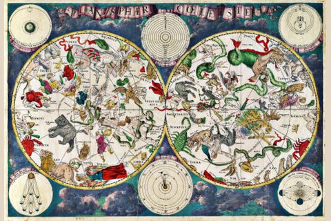 Zodiac Map Poster 24inx36in Poster 24x36 - Fame Collectibles