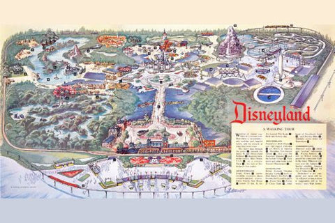 Disneyland Park Map Mouse Pad Mousepad Mouse mat - Fame Collectibles