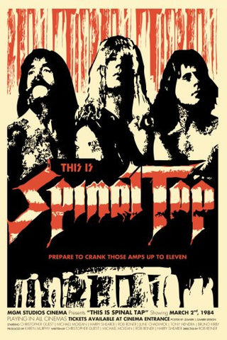 Spinal Tap Movie Poster 24inx36in Poster 24x36 - Fame Collectibles