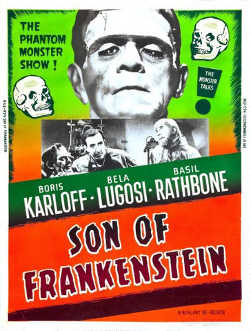 Son Of Frankenstein Movie Poster 27x36 24x36 - Fame Collectibles