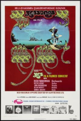 Yes Poster Songs Concert 24inx36in - Fame Collectibles