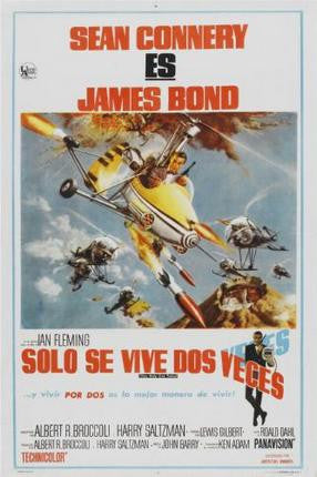 You Only Live Twice Movie Poster James Bond 24x36 - Fame Collectibles