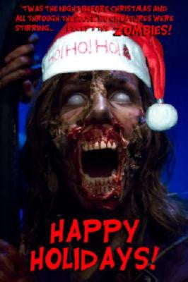 Zombie Christmas Greetings Poster 24in x 36in UNIQUE WEIRD 24x36 - Fame Collectibles