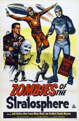 Zombies Of The Stratosphere Movie Poster 24x36 - Fame Collectibles