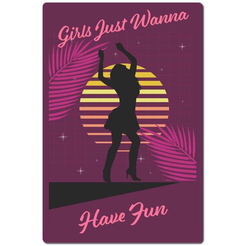 Girls just wanna have fun 80s retro shirt - Fame Collectibles