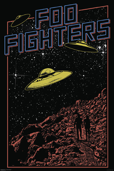 Foo Fighters Poster UFO 24x36 - Fame Collectibles
