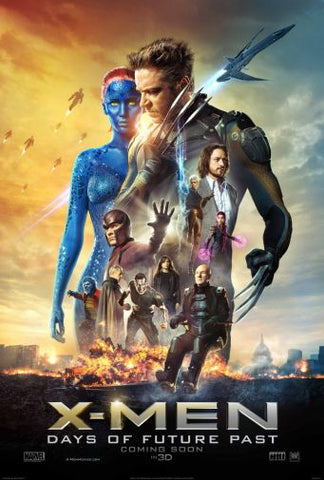 Xmen Days Of Future Past Movie poster 24inx36in Poster 24x36 - Fame Collectibles