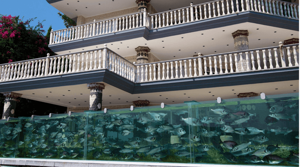ECCENTRIC MAN WHO BUILD 50M AQUARIUM FENCE AROUND HIS MANSION