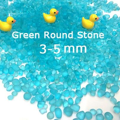Micro Aquatic Shop Handpicked 015 Green 3-5cm / 30g Colorful Stone Terrarium Ornament