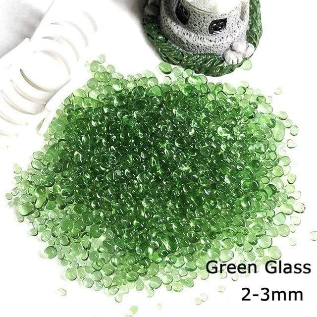 Micro Aquatic Shop Handpicked 026 2-4mm Green / 30g Colorful Stone Terrarium Ornament