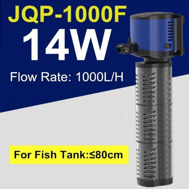 Micro Aquatic Shop Handpicked 14W Aquarium 3 in 1 Silent Submersible Filter Pump