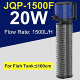 Micro Aquatic Shop Handpicked 20W Aquarium 3 in 1 Silent Submersible Filter Pump