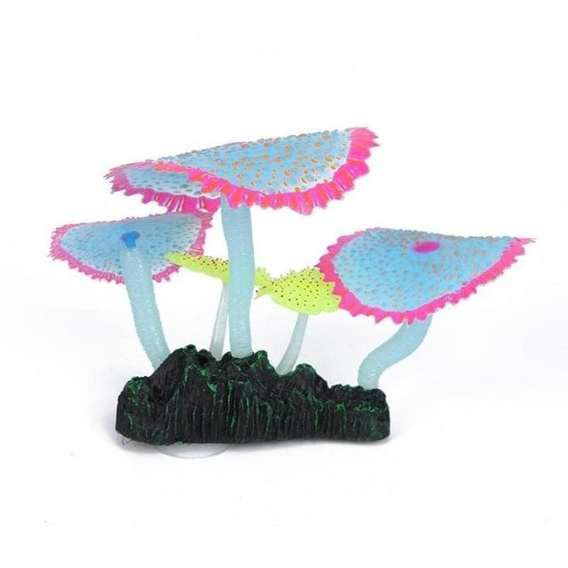 Micro Aquatic Shop Handpicked Blue Pink Artificial Glowing Effect Coral Decoration