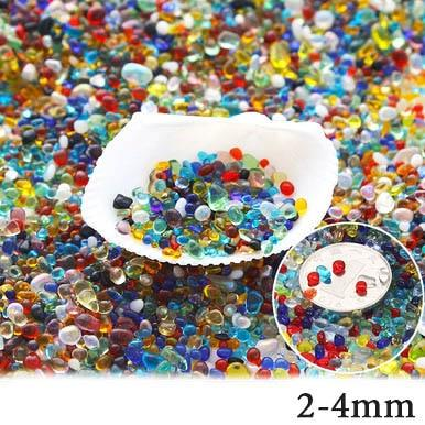 Micro Aquatic Shop Handpicked Colorful 2-4mm / 30g Colorful Stone Terrarium Ornament