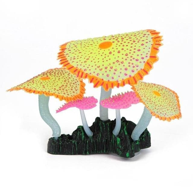 Micro Aquatic Shop Handpicked Orange Yellow Artificial Glowing Effect Coral Decoration