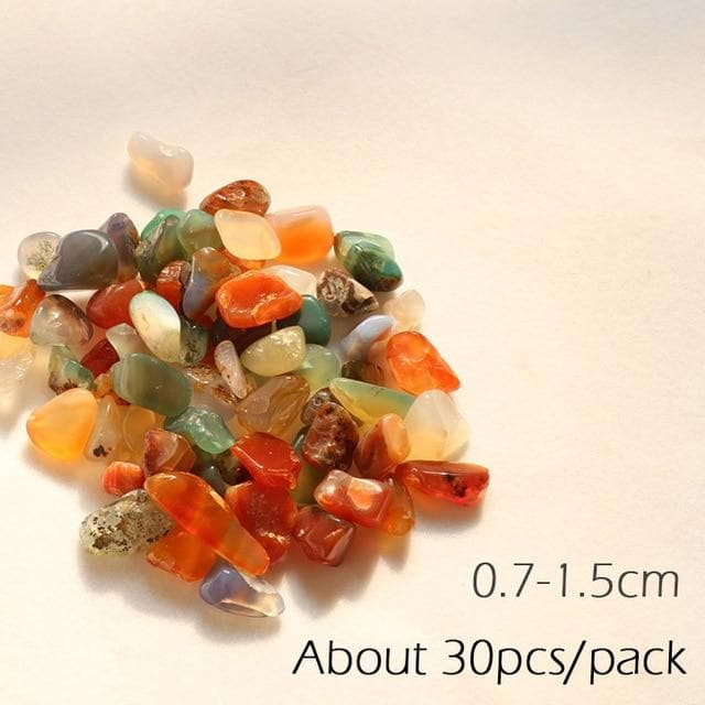Micro Aquatic Shop Handpicked S 30PCS 1CM / 30g Colorful Stone Terrarium Ornament
