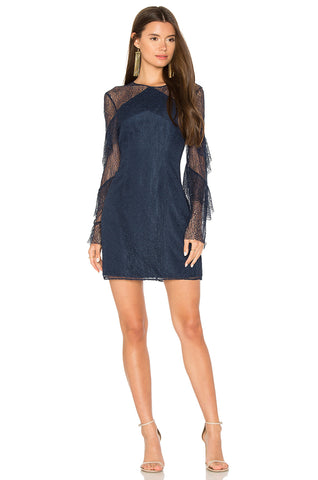 Poplin Wrap Dress With Tiered Bell Sleeves