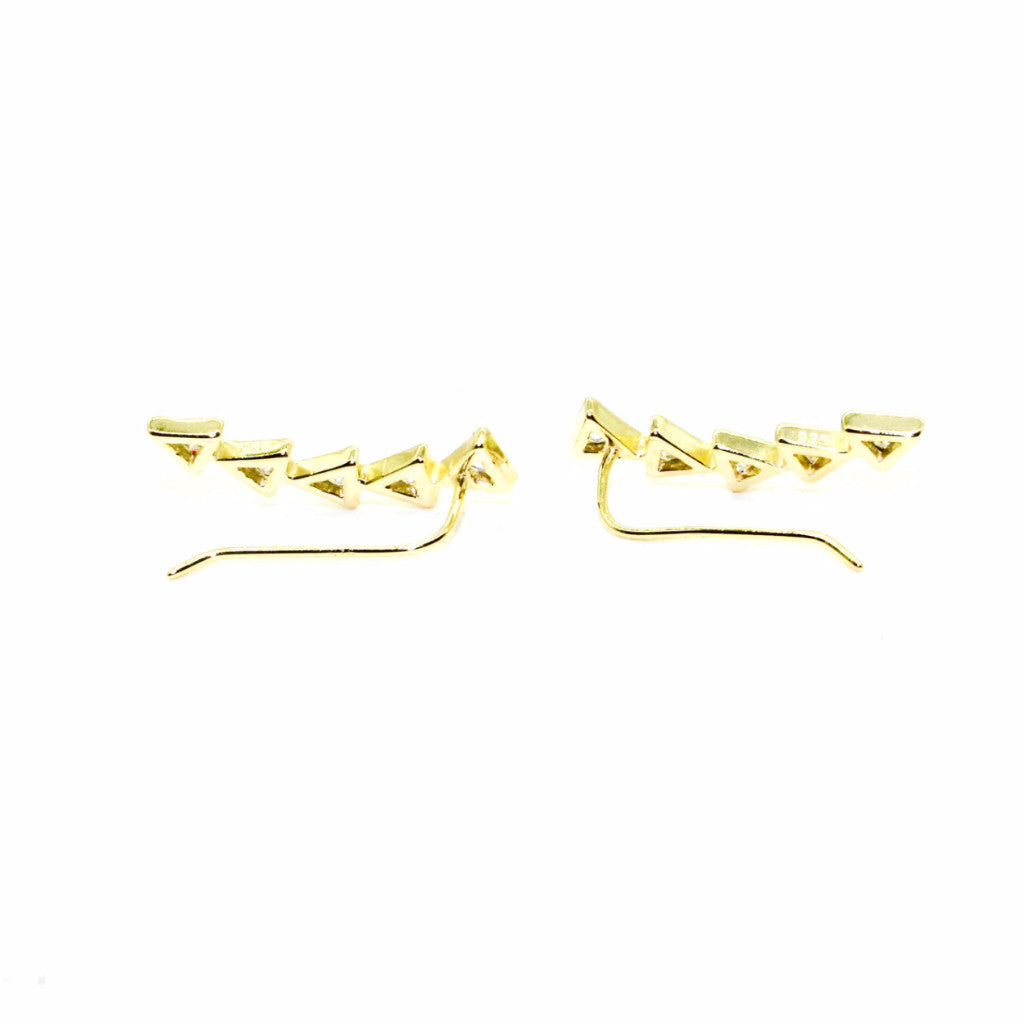 Shashi - Multi Arrow Ear Climber - Surfaced Clothing - 2