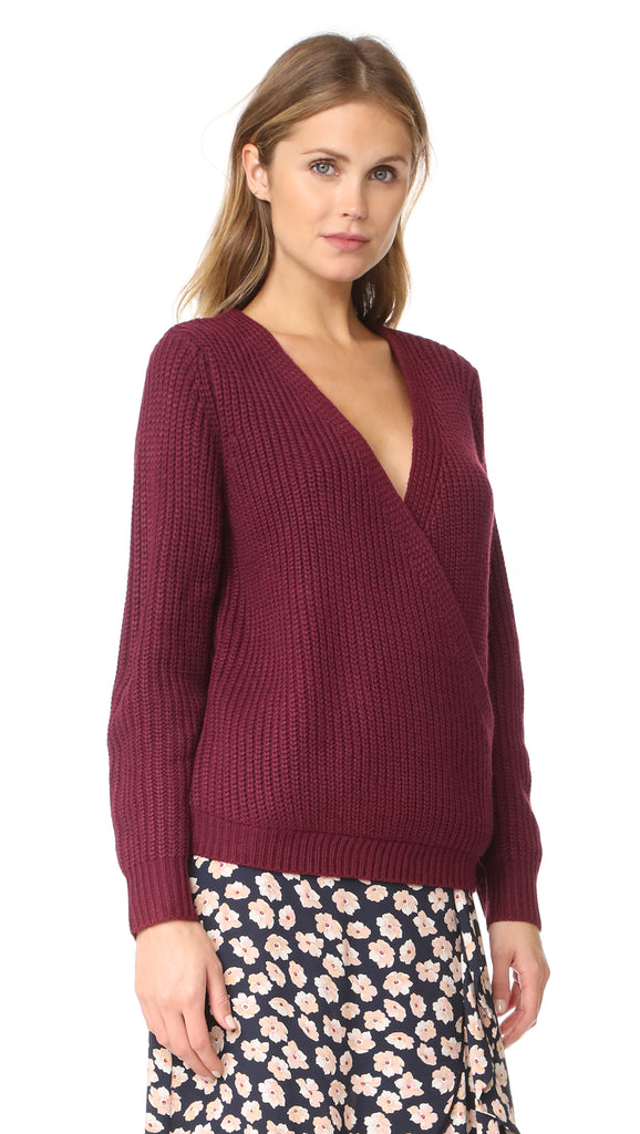 Carmen Wrap Front Sweater
