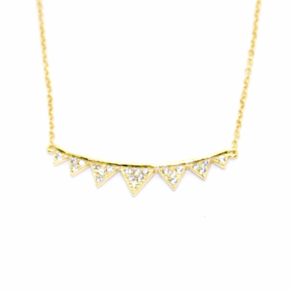 Shashi - Arrow Pave Pendant Necklace - Surfaced Clothing - 1