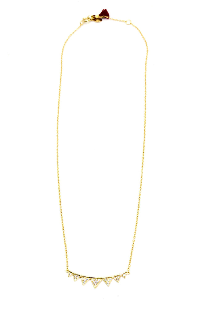 Shashi - Arrow Pave Pendant Necklace - Surfaced Clothing - 2