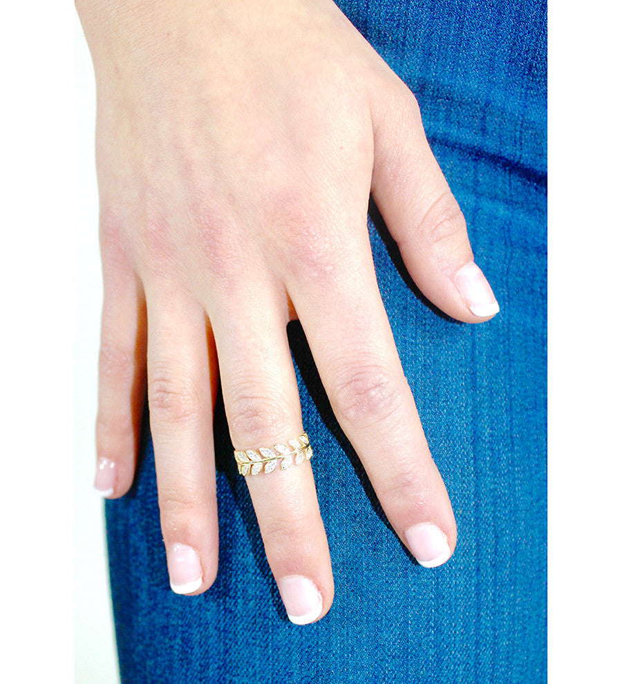 Shashi - Amelia Midi Ring - Surfaced Clothing - 3