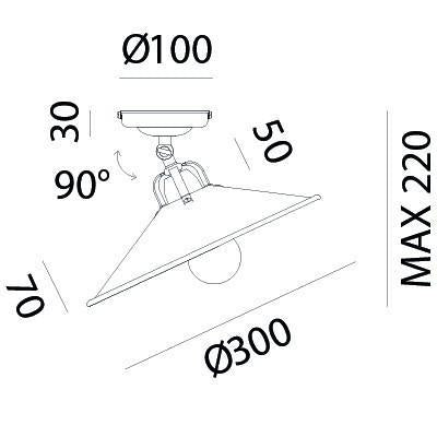 POGGIO Ceiling Light 203.02.OO - touchGOODS
