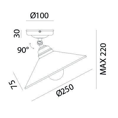 TABIA Ceiling Light 212.02.OV - touchGOODS