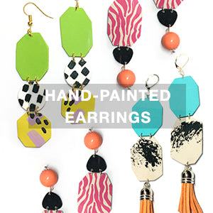 Hand-painted Statement Earrings