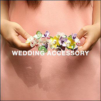 Wedding Hair Accessories: surreal floral tiaras, bridesmaid's hairpieces and much more...