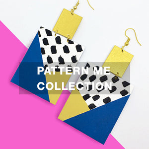 Jewellery: Unique Geometric, Hand-Painted Women's Jewels at Me Pattern Collection