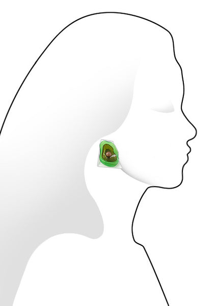 Green Flower Clip-on Earrings