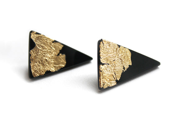 small_black_triangle_earrings